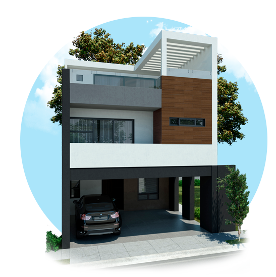 Foto de casas en venta en Cumbres San Agustín, modelo Vivana.
